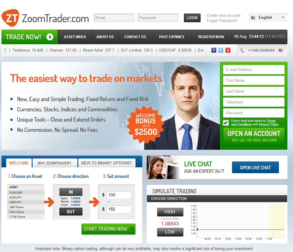 Zoom Trader - Homepage