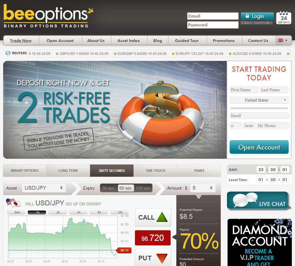 BeeOptions - Homepage ( english )