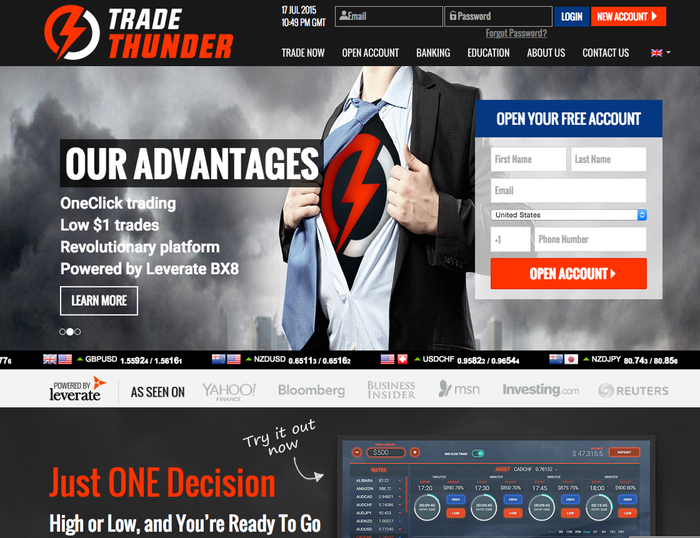 Tradethunder binary options review