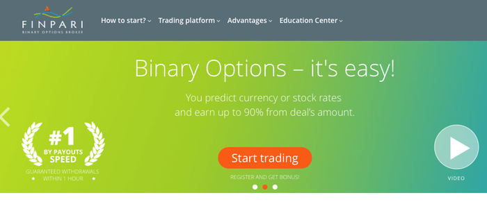 finpari review : Homepage