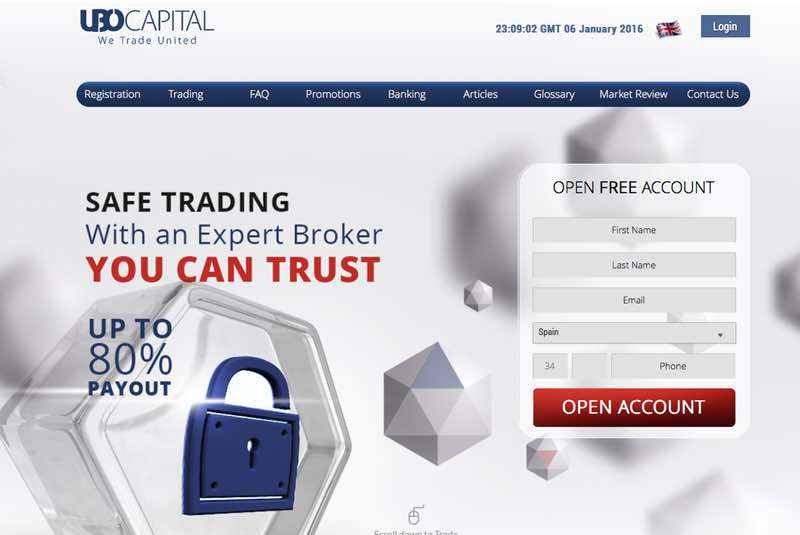 ubocapital review - Homepage preview