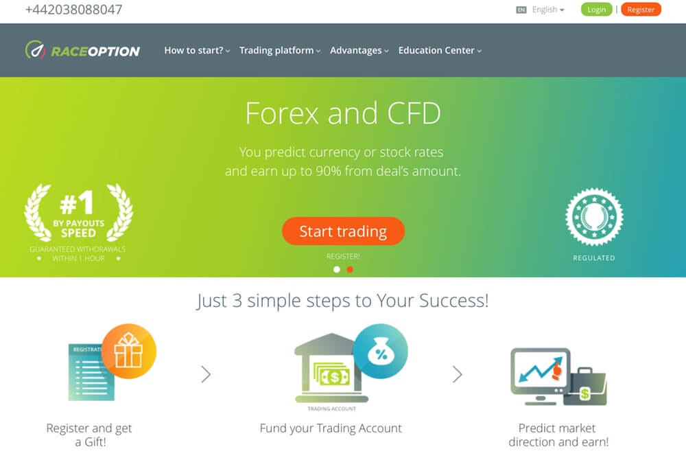 RaceOption Broker - Review