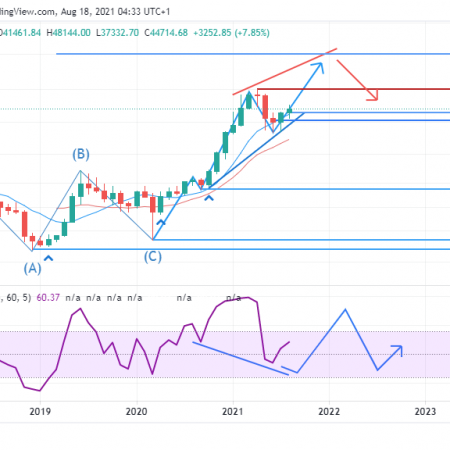 BTCUSD Weekly Outlook  – August 18 , 2021